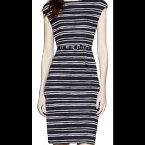 Tory Burch Navy Creta Kalvin Silk Dress NEW Medium
